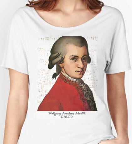 Wolfgang Amadeus Mozart Grunged Women's Relaxed Fit T-Shirt