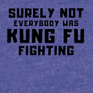 SURELY NOT EVERYBODY WAS KUNG FU FIGHTING Classic Disco tee by VIDDAtees