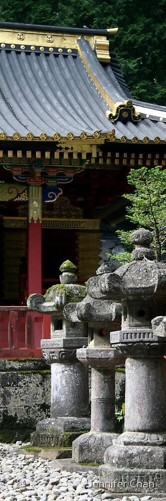 Stone Lanterns at Tosho-gu Shrine by Jennifer Chan