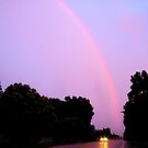 Spring Evening Rainbow by NatureGreeting Cards ©ccwri