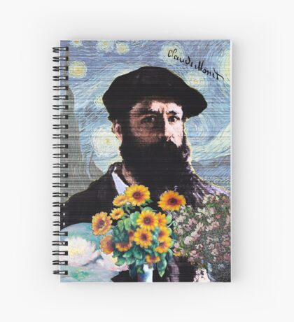 Claude Monet Mashed Spiral Notebook