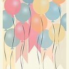 Happy Birthday - Balloons by Emma Holmes