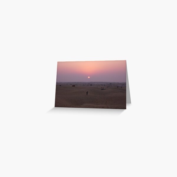 Desert sunset, Rajasthan Greeting Card