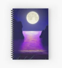 Moonlit Cove Spiral Notebook