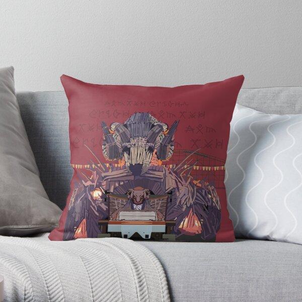 Wicker Man Rollercoaster Design - Alton Towers Throw Pillow
