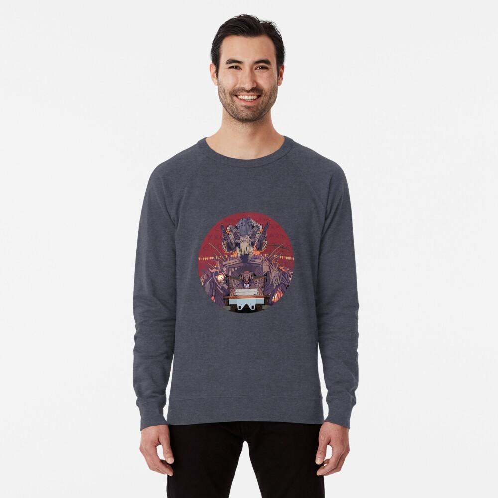 Wicker Man Rollercoaster Design - Alton Towers Lightweight Sweatshirt