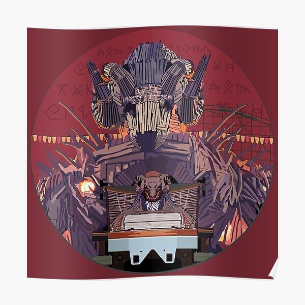 Wicker Man Rollercoaster Design - Alton Towers Poster