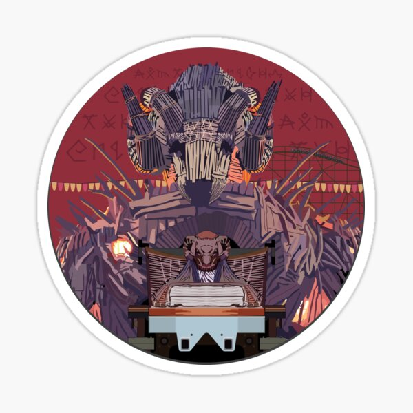 Wicker Man Rollercoaster Design - Alton Towers Sticker
