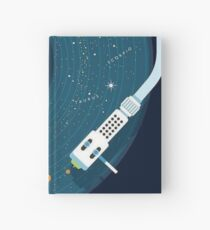 Vinyl player planets and stars design Hardcover Journal