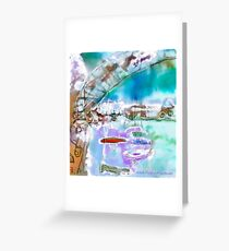 Cape Cod Traffic Jam Abstract Art Greeting Card