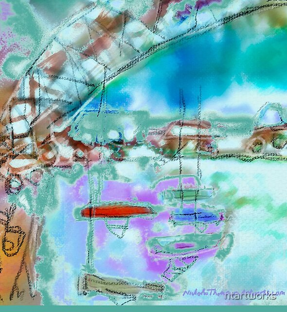 Cape Cod Traffic Jam Abstract Art by ntartworks