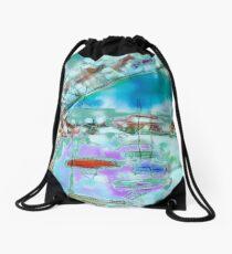 Cape Cod Traffic Jam Abstract Art Drawstring Bag