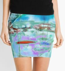 Cape Cod Traffic Jam Abstract Art Mini Skirt