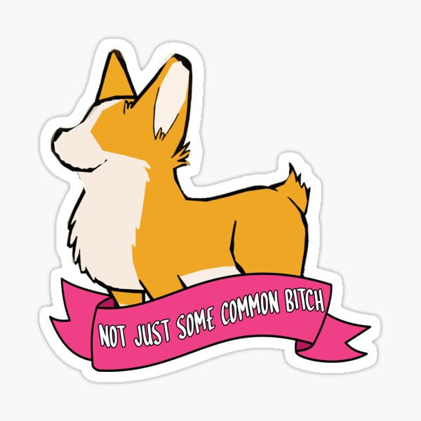 this is cheddar (not just some common bitch) Sticker