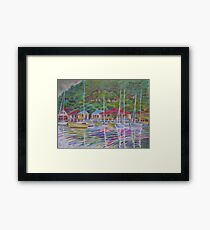 A View Over Koolewong Wharf From Koolewong Park, Australia Framed Print