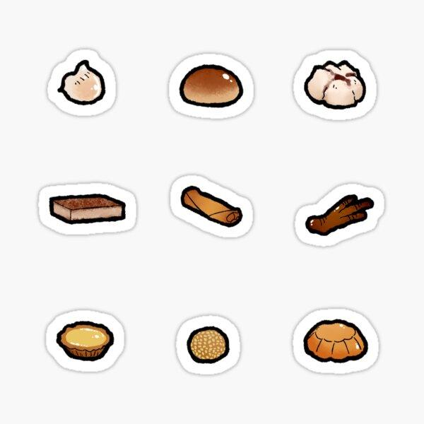 Dim Sum Foods Set Sticker