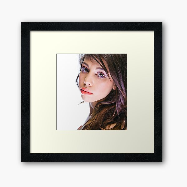 Portrait of a young woman Framed Art Print