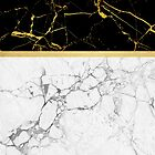 Gold and Marble Stripes by Vin  Zzep