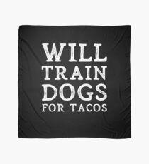 Pañuelo Will Train Dogs For Tacos Idea de regalo para un adiestrador de perros
