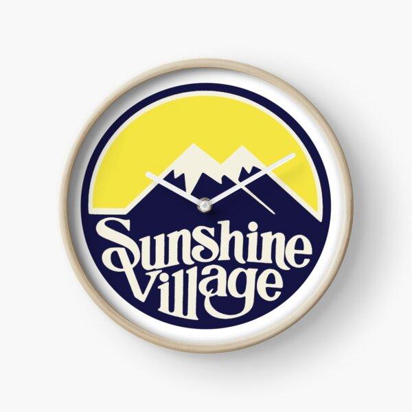 Sunshine Village Banff Vintage Ski Lake Louise Clock