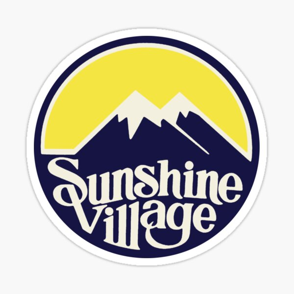 Sunshine Village Banff Vintage Ski Lake Louise Sticker