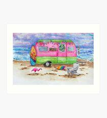 Beachcomber Camper Art Print