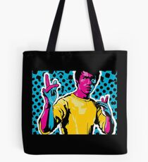 Bruce Lee Fighting Stance Colorful Art Tote Bag