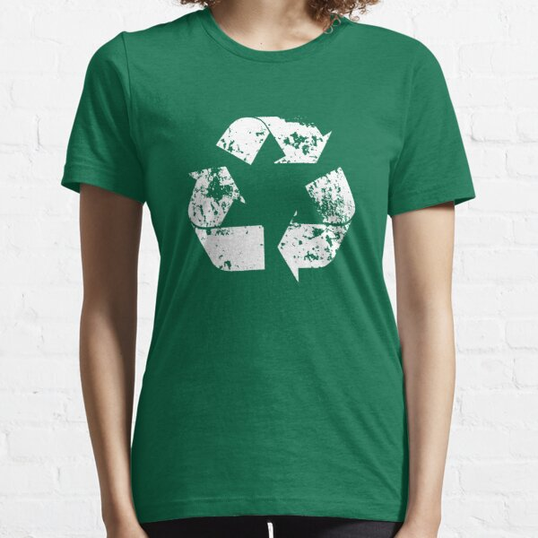Recycle (Distressed - White) Essential T-Shirt