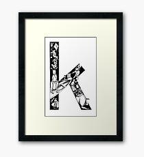 The letter K Framed Print