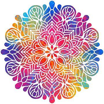 Mandala Regenbogen Geschenk Shirt Tasse  von gdimido
