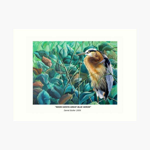 """""""Noon Siesta-Great Blue Heron"""" Art Print"""