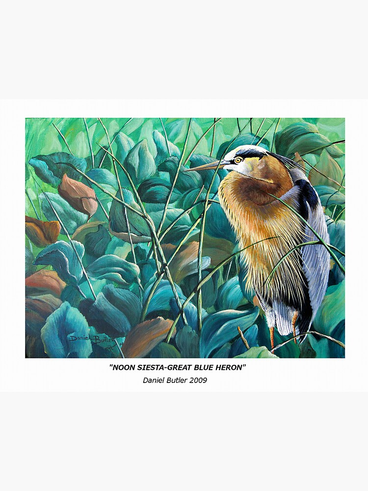 """""""Noon Siesta-Great Blue Heron"""" by cyberhighwaymen"""