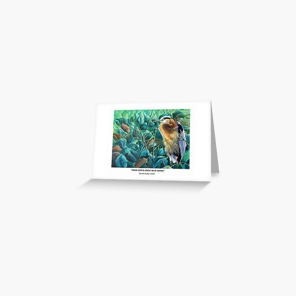 """""""Noon Siesta-Great Blue Heron"""" Greeting Card"""