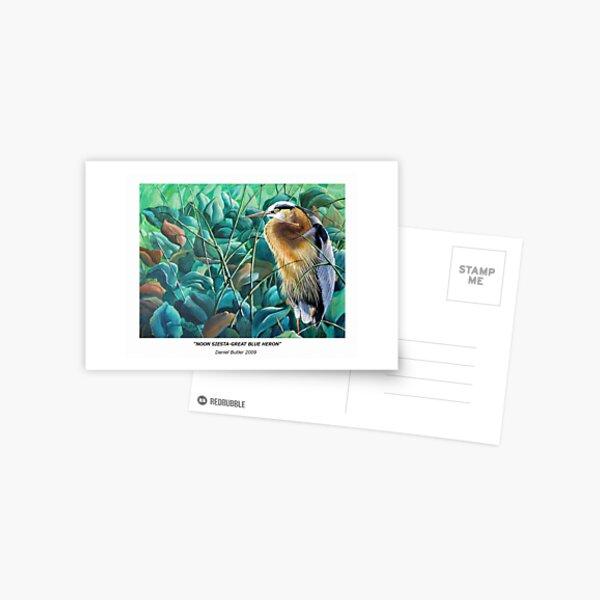 """""""Noon Siesta-Great Blue Heron"""" Postcard"""