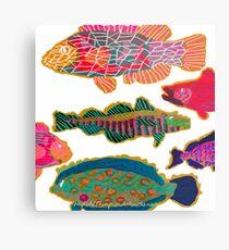 Colorful Abstract Fish Art  Metal Print