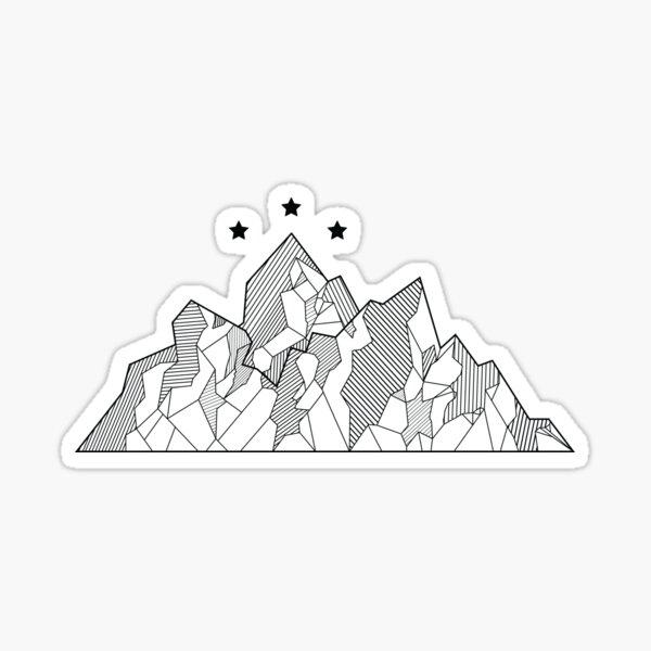 ACOMAF Night Court Mountain Design  Sticker