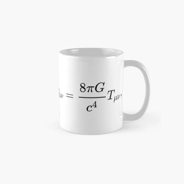 #УравненияЭйнштейна #Эйнштейн #Гильберт #уравнения #ГравитационноеПоле #ОбщаяТеорияОтносительности #метрика #искривлённое #пространствовремя #свойства #заполняющая #материя #УравнениеЭйнштейна #Теория Classic Mug