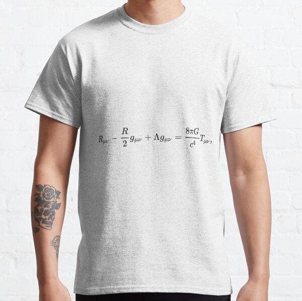 #УравненияЭйнштейна #Эйнштейн #Гильберт #уравнения #ГравитационноеПоле #ОбщаяТеорияОтносительности #метрика #искривлённое #пространствовремя #свойства #заполняющая #материя #УравнениеЭйнштейна #Теория Classic T-Shirt
