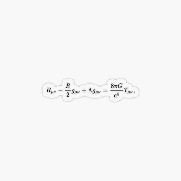 #УравненияЭйнштейна #Эйнштейн #Гильберт #уравнения #ГравитационноеПоле #ОбщаяТеорияОтносительности #метрика #искривлённое #пространствовремя #свойства #заполняющая #материя #УравнениеЭйнштейна #Теория Transparent Sticker