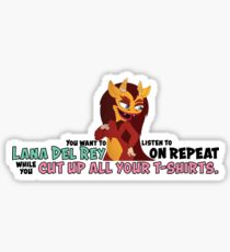 big mouth hormone monstress quote Sticker