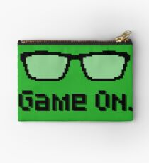 Game On  - Nerdy Pixel Art  Studio Pouch
