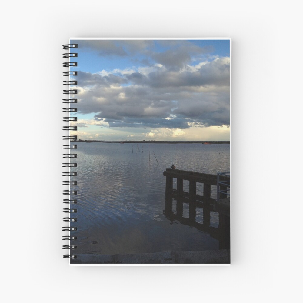 Storm Clouds Panorama Spiral Notebook
