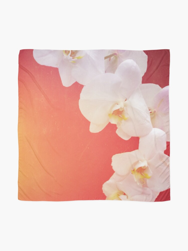 Alternate view of Orange Orchid Scarf