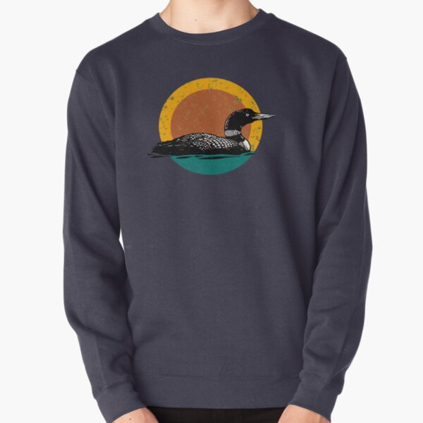 Loon Sunset- Faded Look with Retro Colors Pullover Sweatshirt