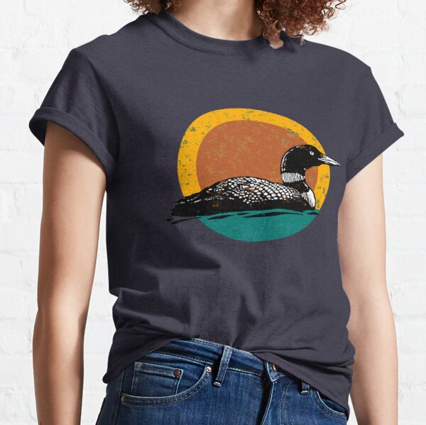 Loon Sunset- Faded Look with Retro Colors Classic T-Shirt