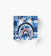 A Bathing Ape Blue Shark Acrylic Block