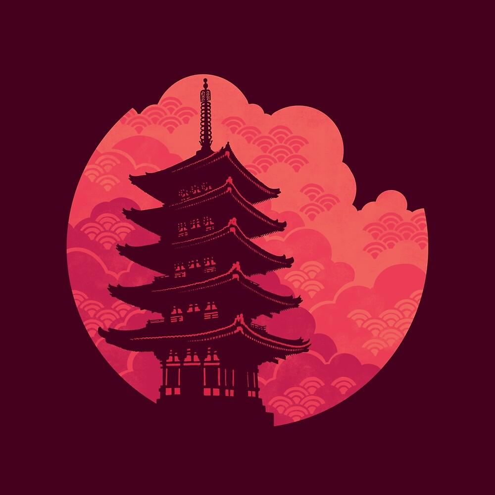«Pagoda Sunset» de Wayne Minnis