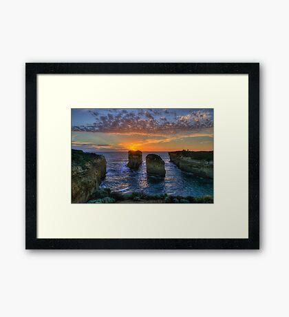 Sunset Tango - Twelve Apostles, Great Ocean Road - The HDR Experience Framed Print