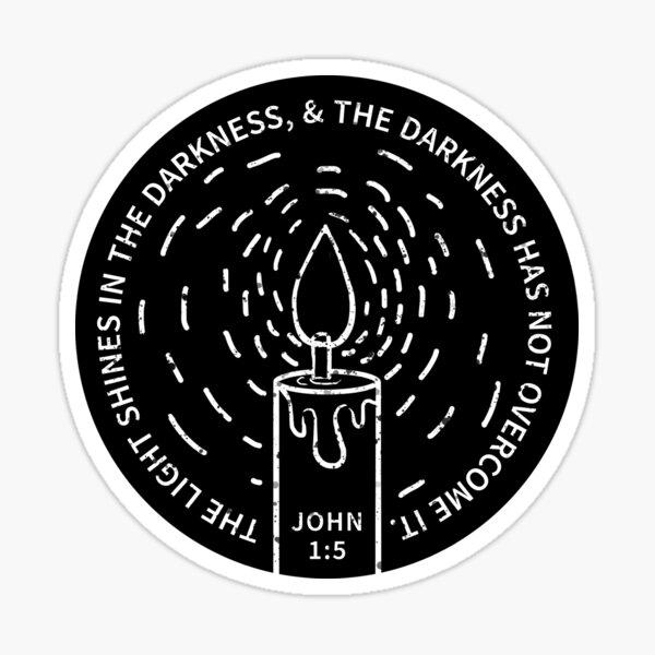 JOHN 1:5 Sticker
