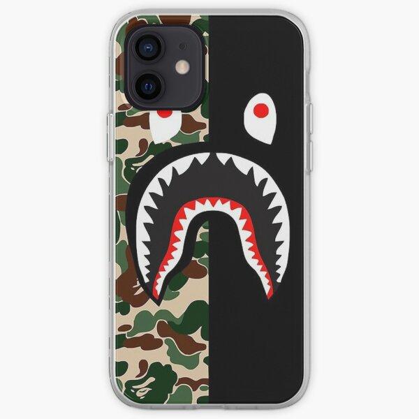 BLACK Bape Camo Shark Funda blanda para iPhone